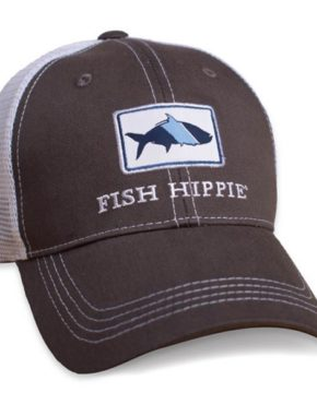 15f4f732783 Fish Hippie Mesh Back Trucker Hat Graphite