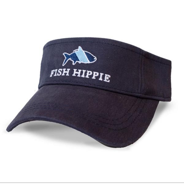 aeaf9bdcfb4ea Fish Hippie Sport Visor Navy - AG Outfitters NC