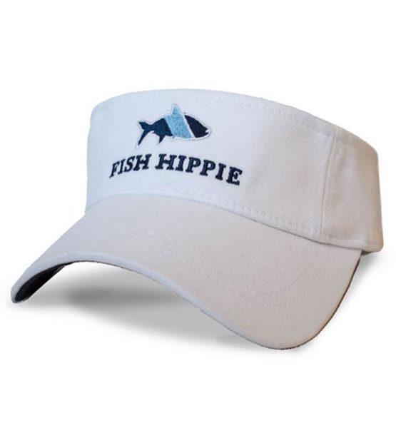 Fish-Hippie-White-Sport-Visor