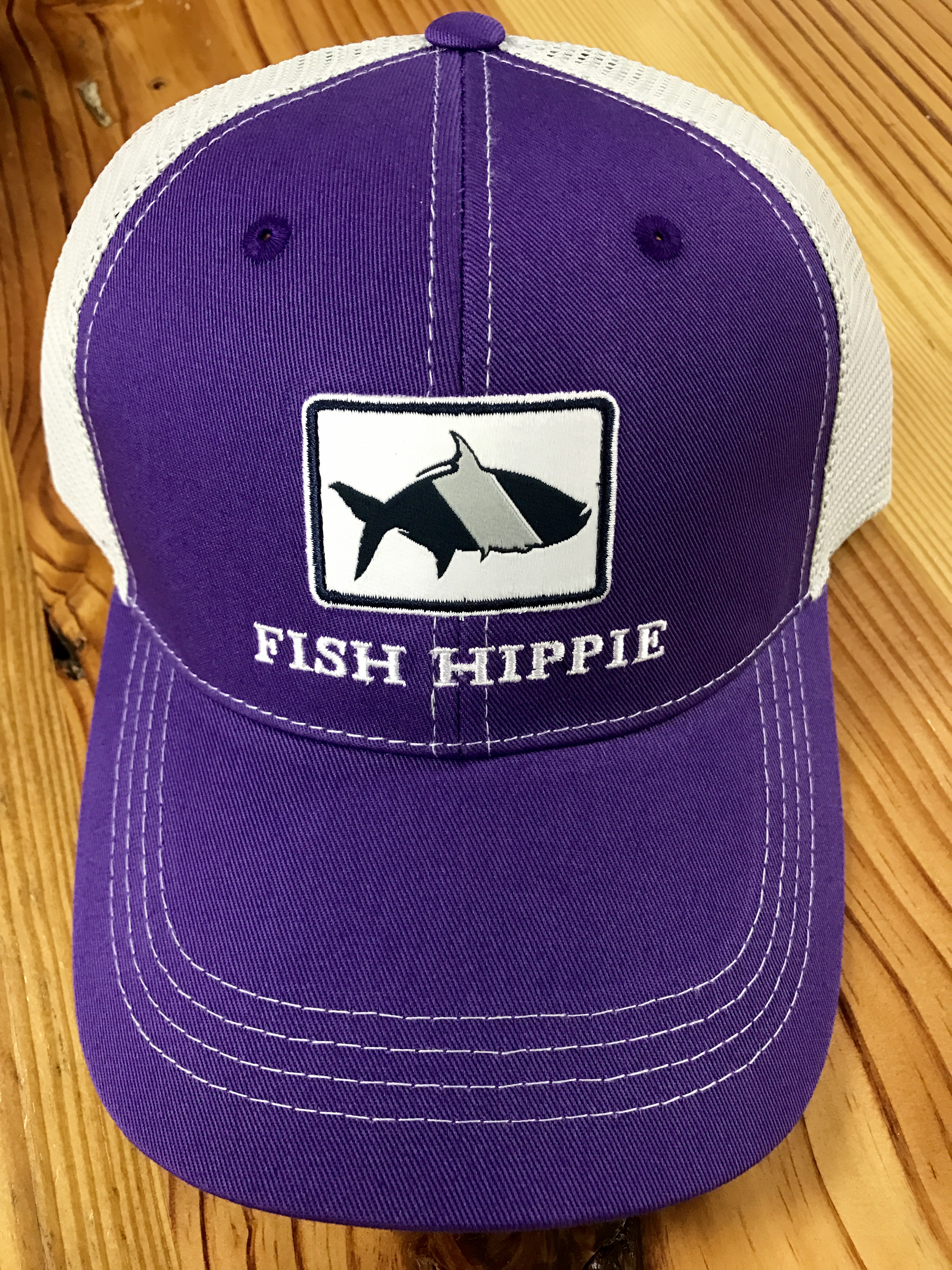 Fish Hippie Game Day Mesh Back Trucker Hat Purple - AG Outfitters NC f65b4405a388