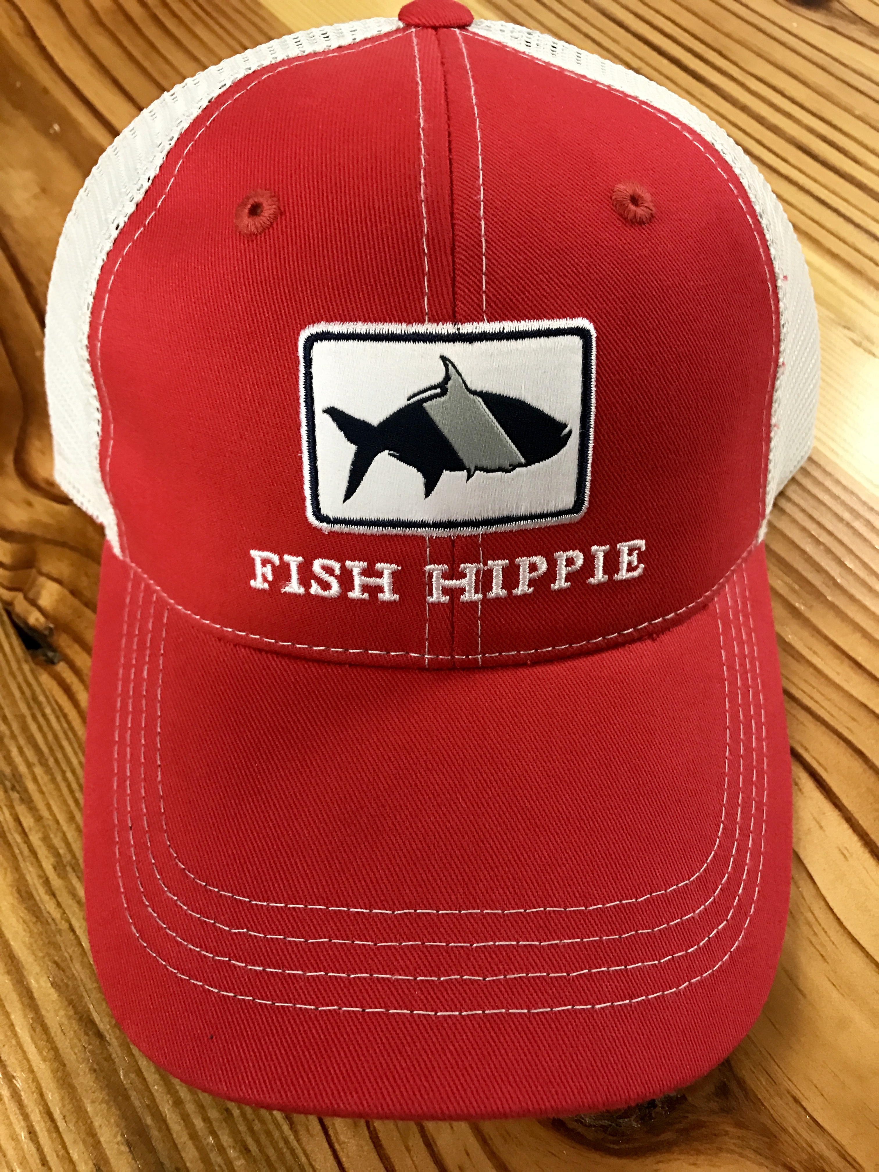 c0603a6159030 Fish Hippie Game Day Mesh Back Trucker Hat Red - AG Outfitters NC