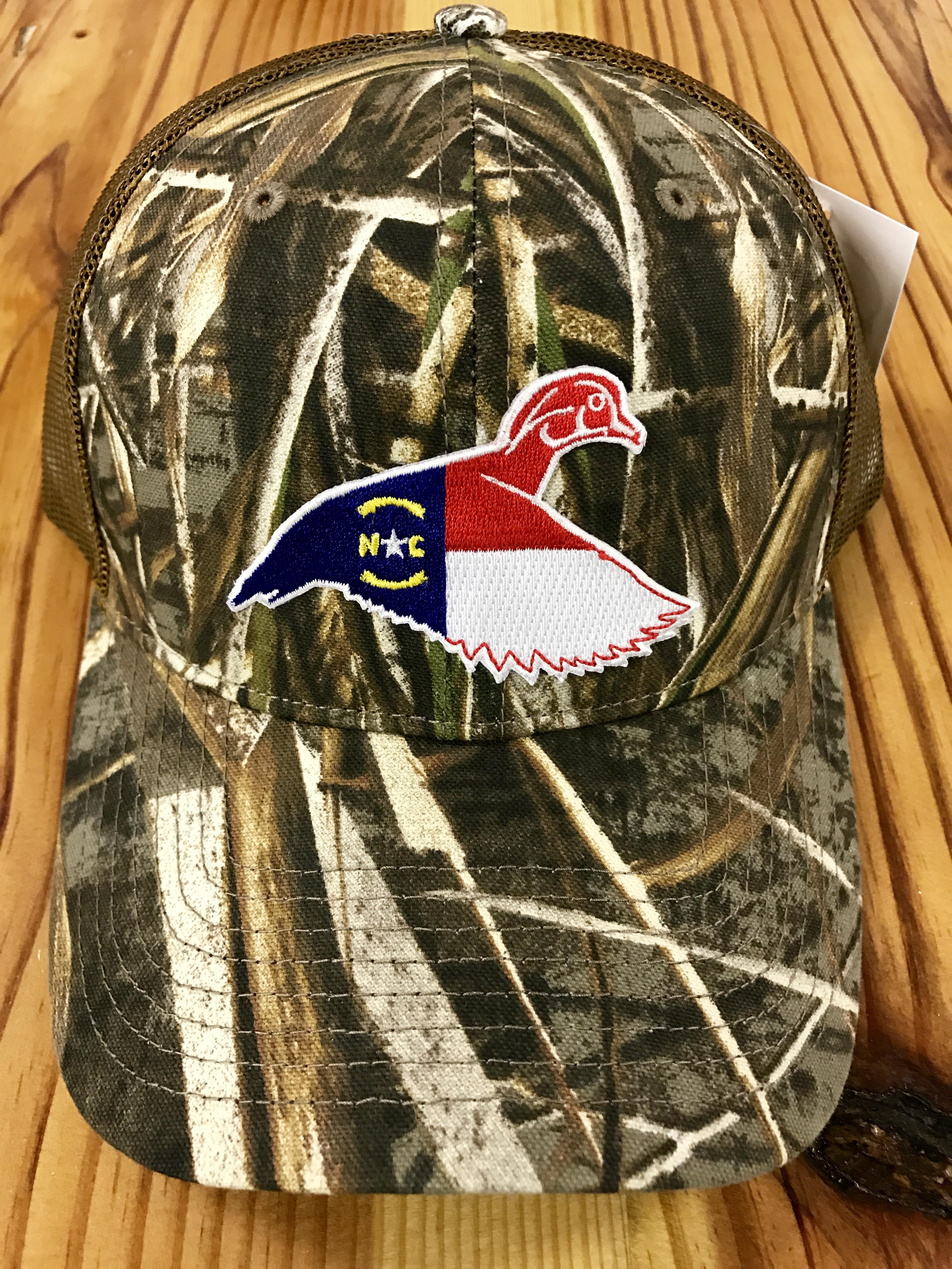 59cfac878 Dixie Fowl North Carolina Wood Duck Trucker Hat Realtree Max 5/Buck
