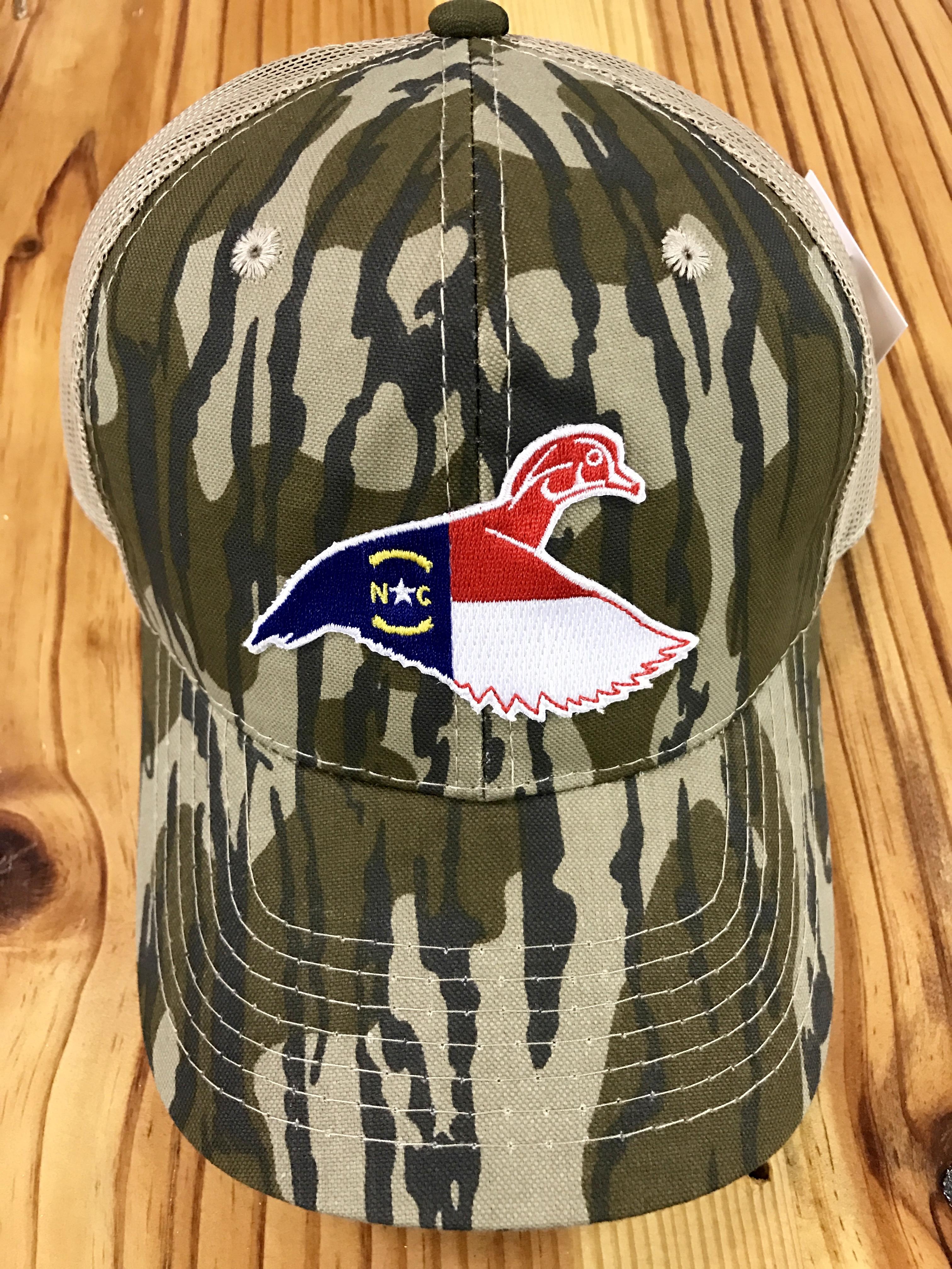 f5da07727 Dixie Fowl North Carolina Wood Duck Trucker Hat Bottomland Camo