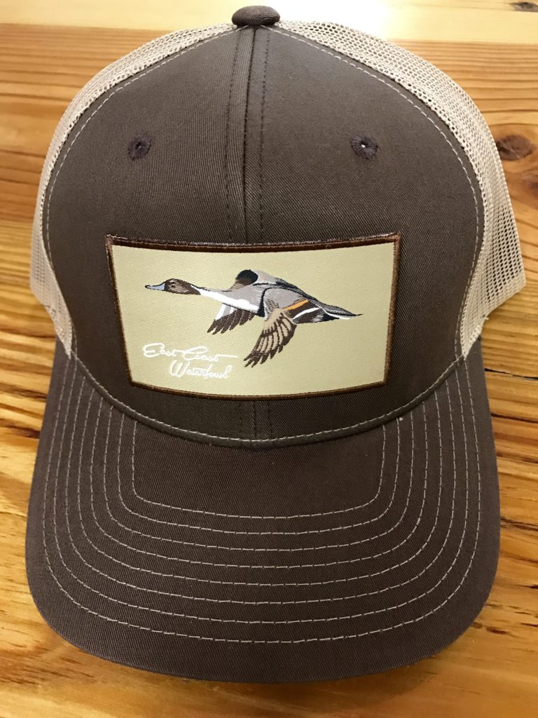 2f69712e80a East Coast Waterfowl Pintail Patch Trucker Hat Brown Khaki - AG Outfitters  NC