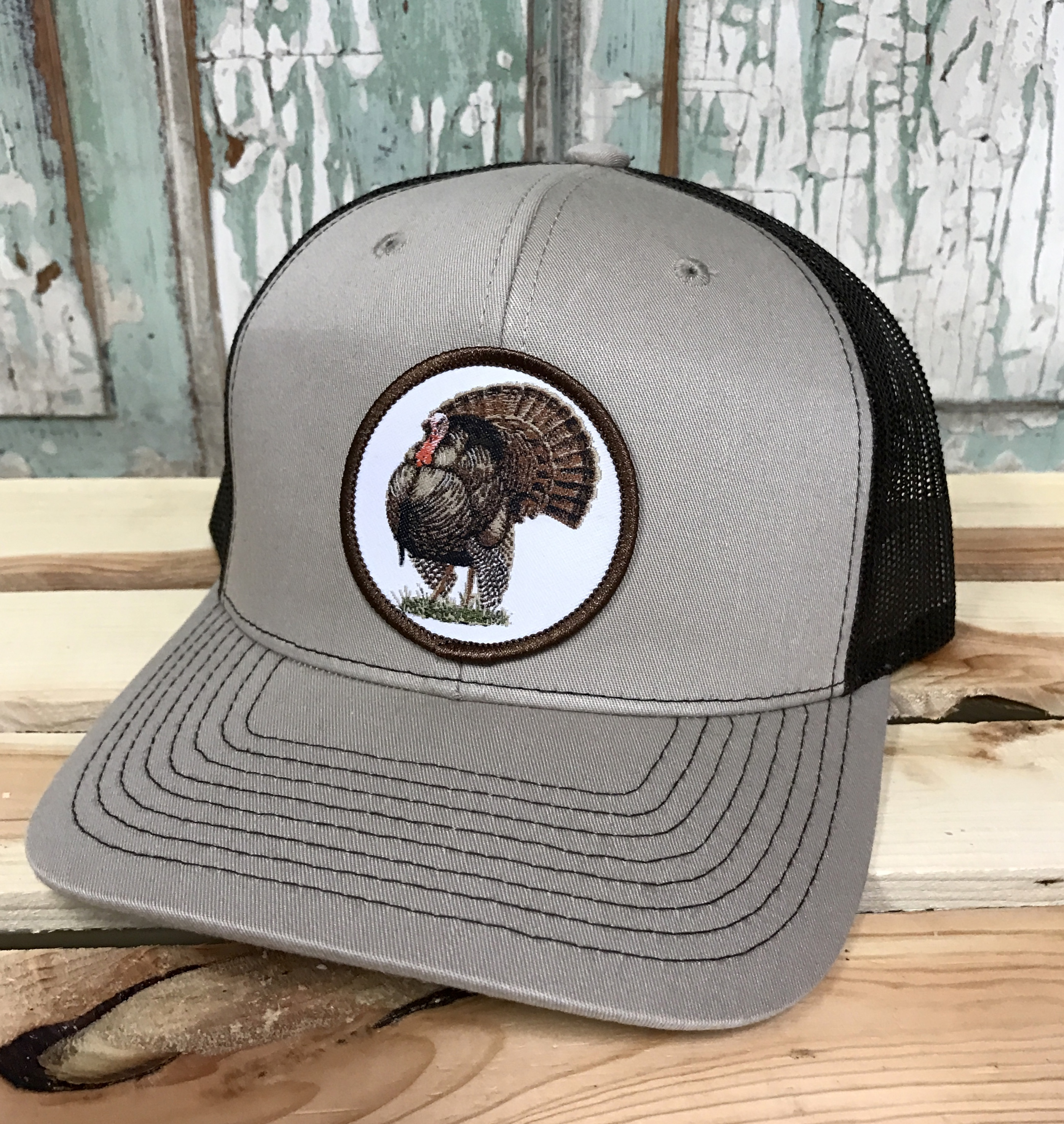 3d6d9e7c270fb AG Outfitters Turkey Patch Trucker Hat Tan Coffee - AG Outfitters NC