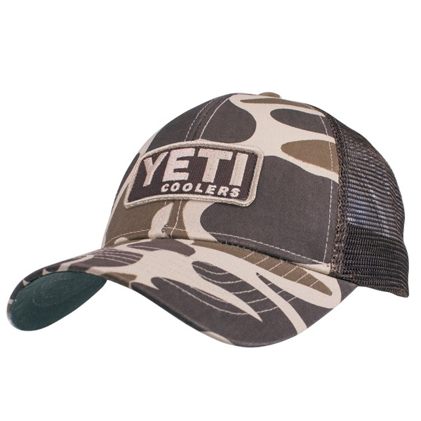 562ef35e07ec8 Yeti Patch Trucker Hat Camo One Size - AG Outfitters NC