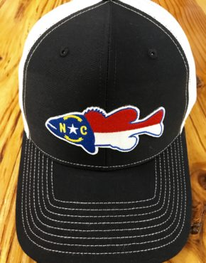 7f855474 North Carolina Bass Silhouette Patch Trucker Hat Navy/White · Accessories  ...