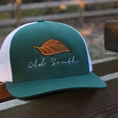 b10f31ad93ebbf Old South Tobacco Trucker Hat Snap Back Green - AG Outfitters NC