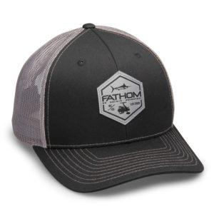e2fc3f0b261 Fathom Offshore Blockade Runner Adjustable Trucker Hat Black   ...