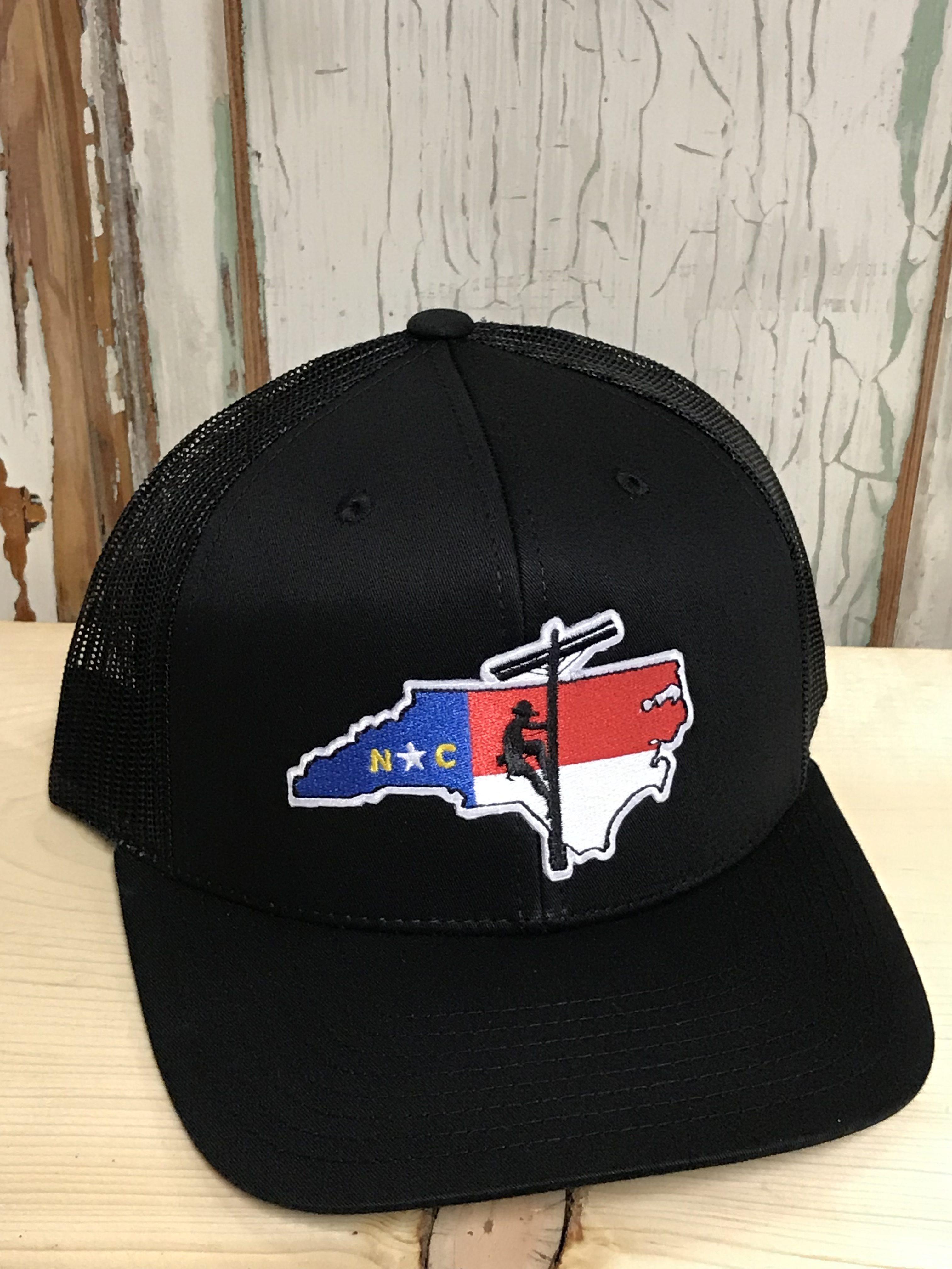 faebc2d0f57f5 North Carolina Lineman Patch Snapback Trucker Hat Black Accessories