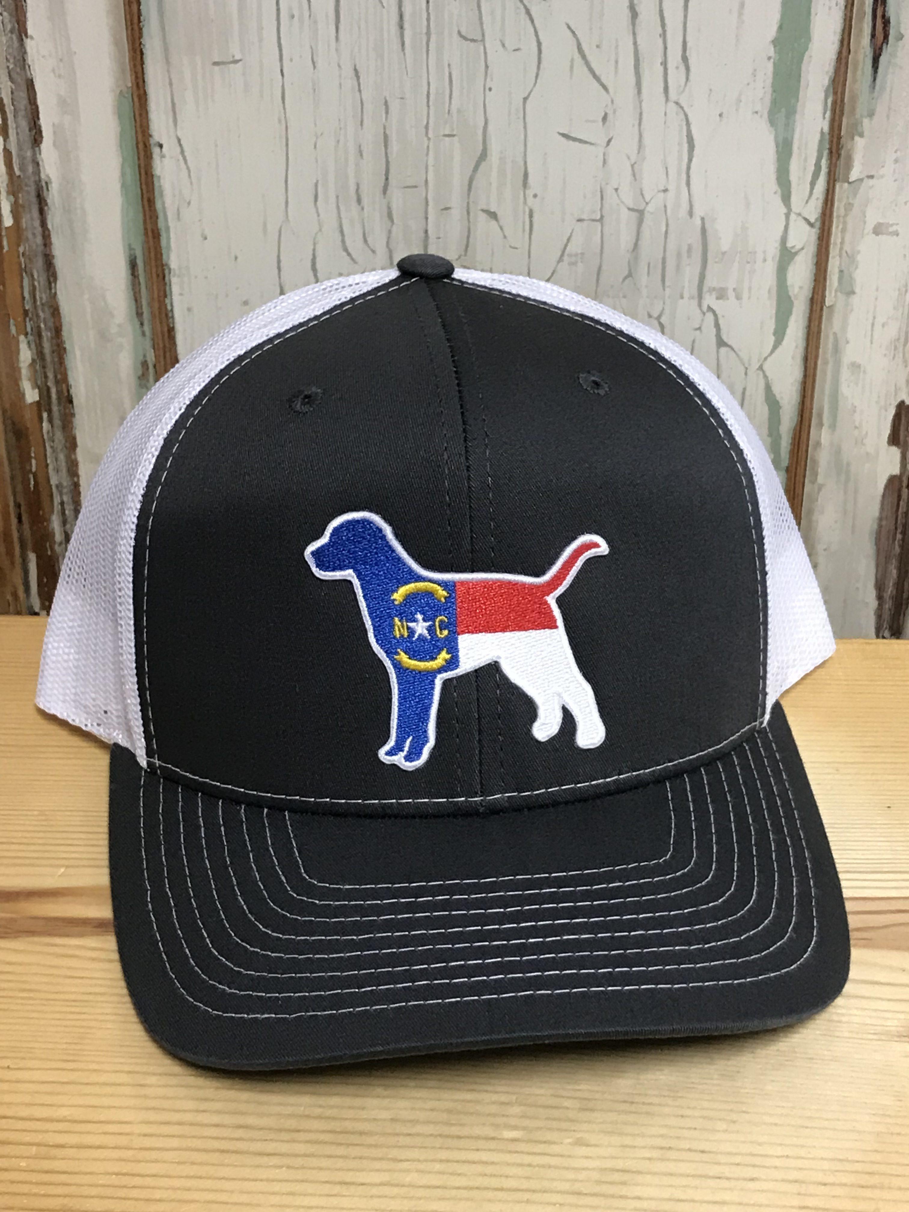 619f78f3a18c2 North Carolina Dog Patch Snapback Trucker Hat Charcoal White Accessories
